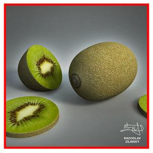 3d realistic kiwi model