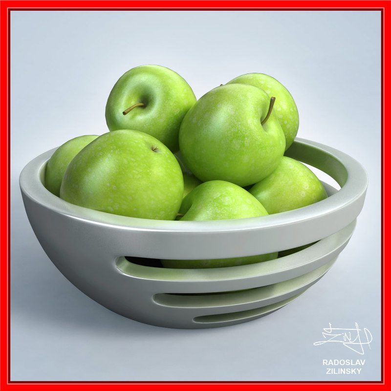apples bowl design - 3ds
