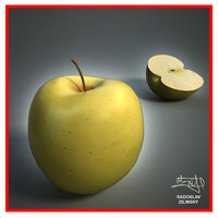3d realistic apple -
