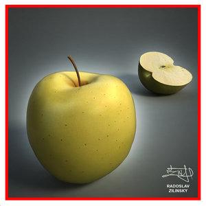 3d realistic apple -