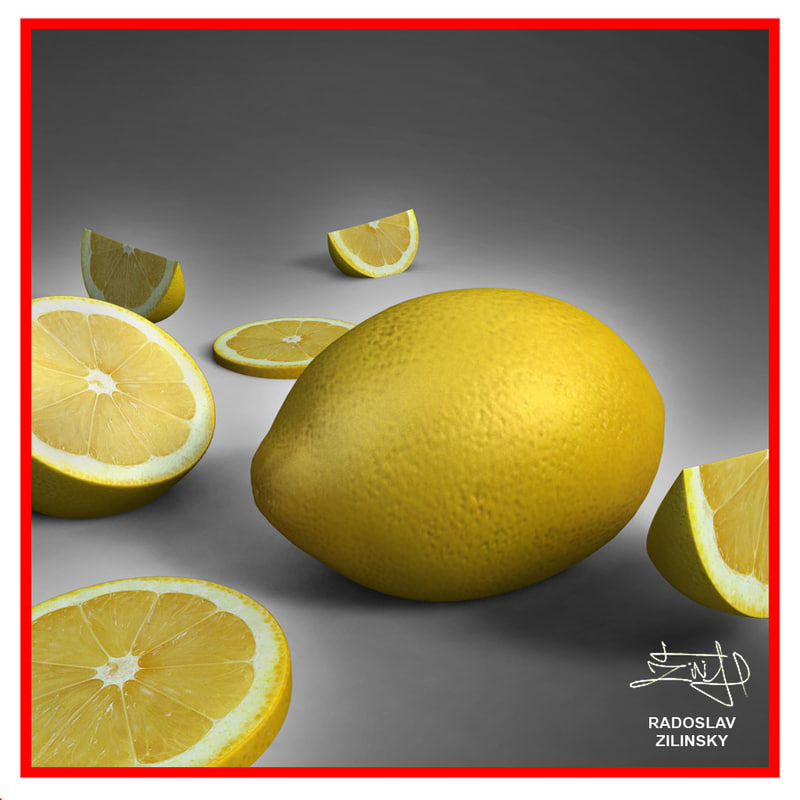 3d model realistic lemon