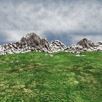 valley mountains 3d model
