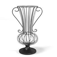 flower vase elegant 3d model