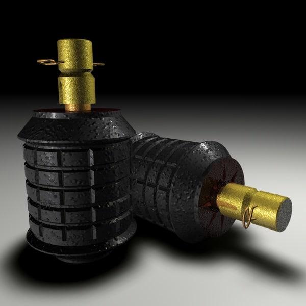 cinema4d type 97 grenade