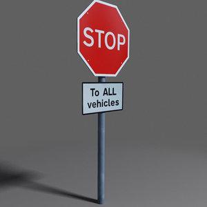 3d road sign coz101023851 model