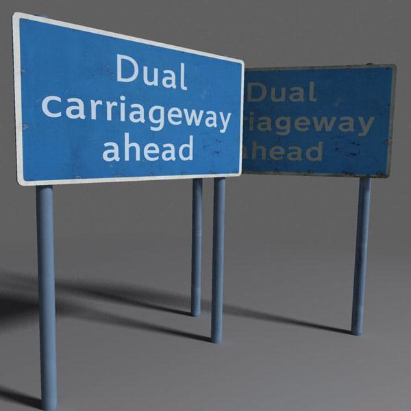 3dsmax road sign coz101023853