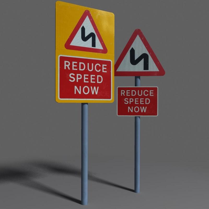 road sign coz101023860 3d model