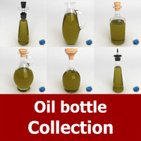 3d dxf oil bottles
