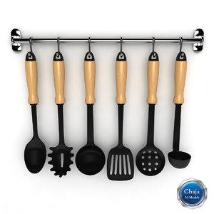 3d model kit kitchen tools
