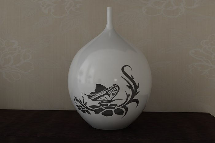 3ds max photorealistic modern vase