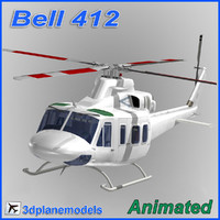 Bell 412 Generic white