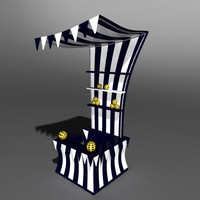 3d circus stand
