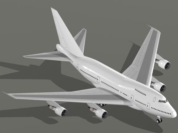 3d boeing 747-sp 747 sp model
