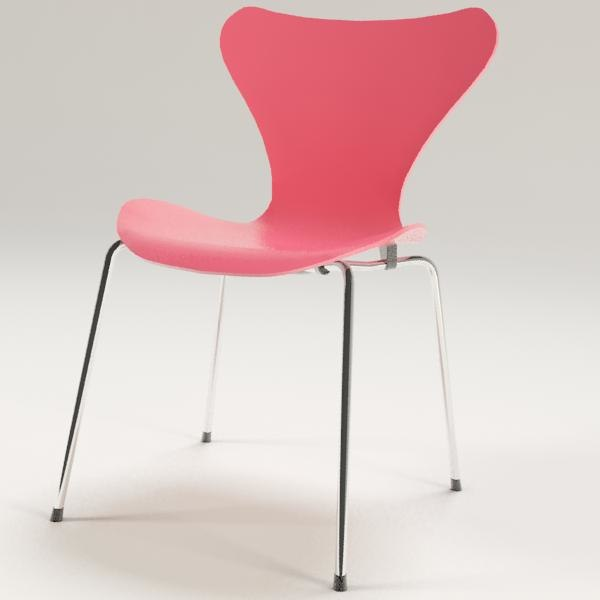 3d model arne jacobsen chair 7