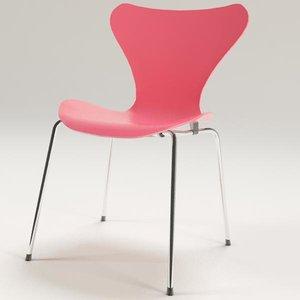 3d model arne jacobsen chair 7