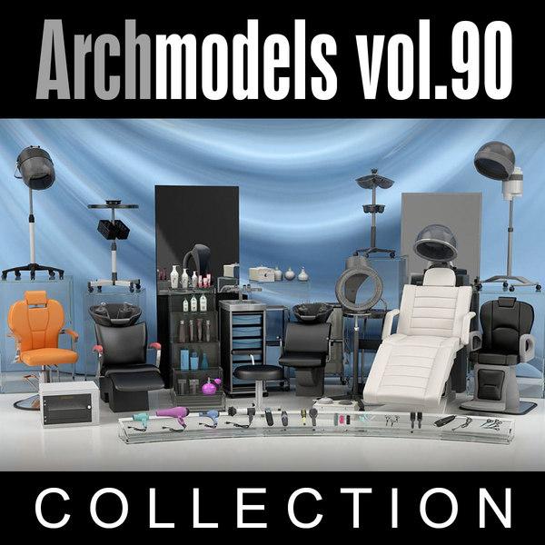 archmodels vol 90 furniture 3d model