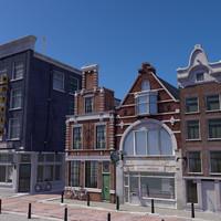 Amsterdam High-res Street Scene
