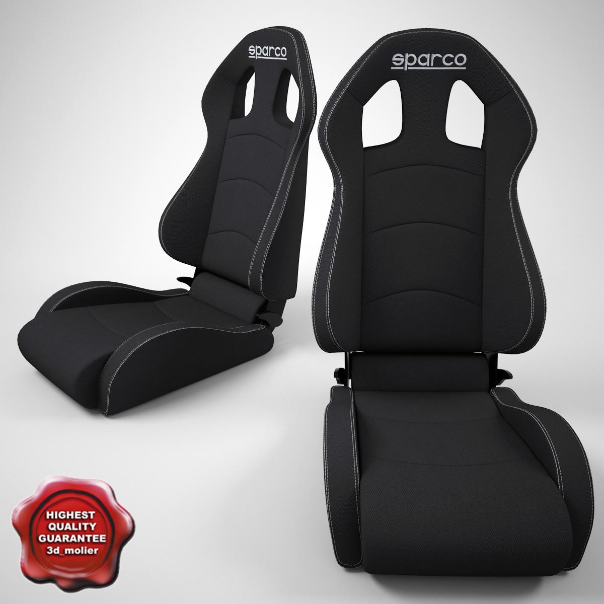 auto seat sparco 3d model
