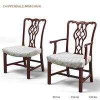 BAKER CHIPPENDALE ARM CHAIR 2599 HISTORIC CHARELSTON ENGLISH ARMCHAIR