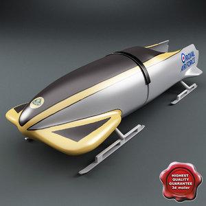 3dsmax bobsleigh sled