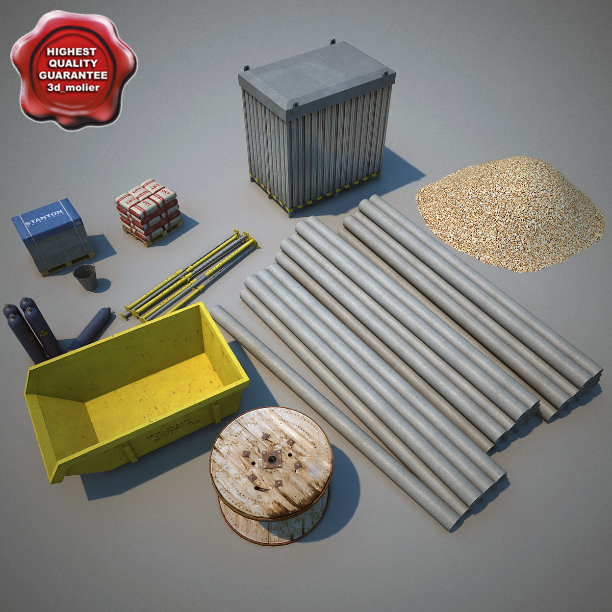 construction elements 3d model