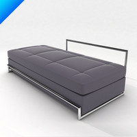 3d model day bed eileen gray