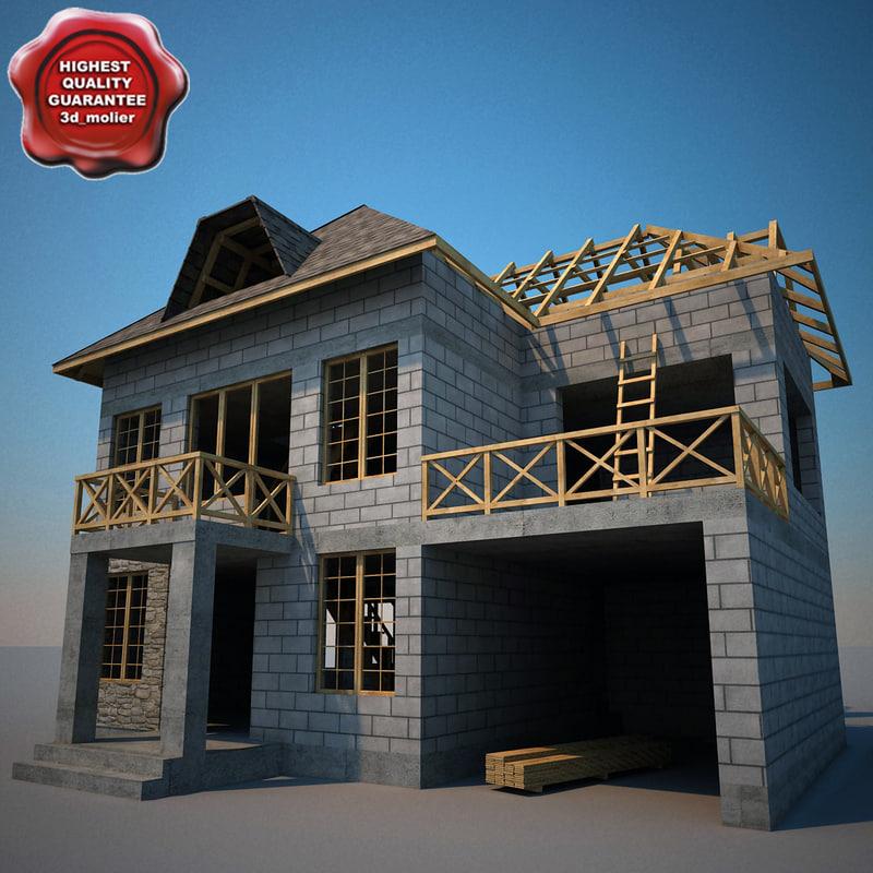 c4d house construction v2