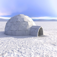 3d eskimo igloo house model
