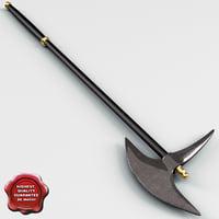 3d medieval axe v3 model