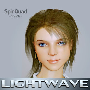 mona lightwave rigged - 3d model