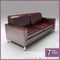 OLD LEATHER SOFA
