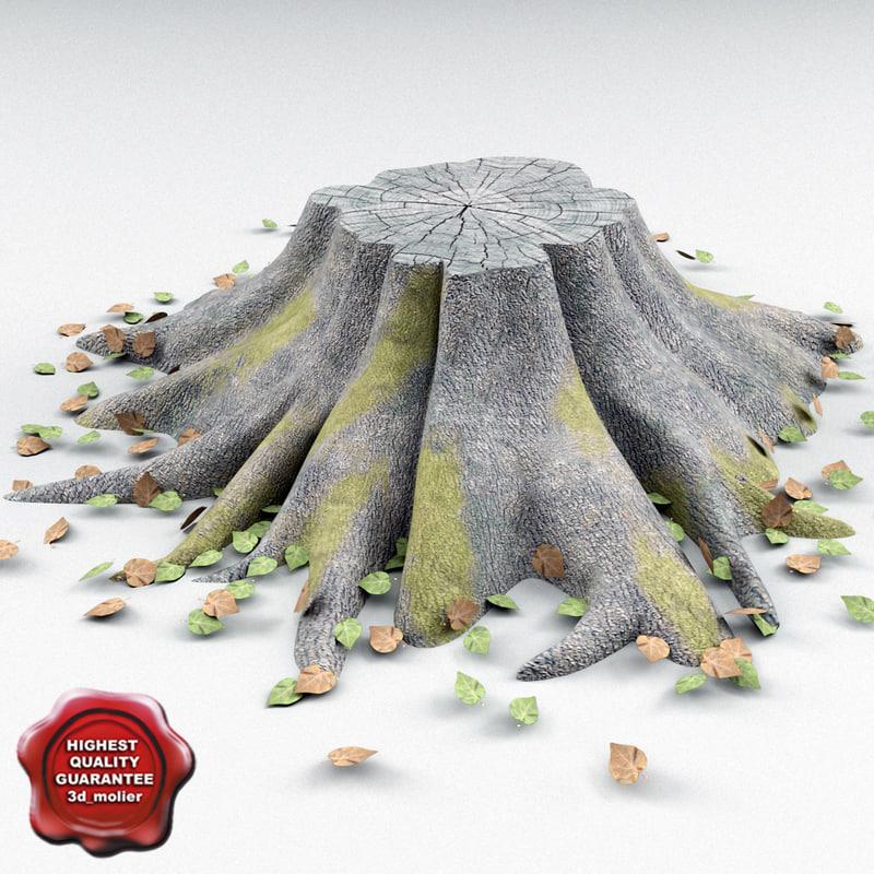 old stump v3 3d obj
