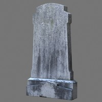 tombstone dug 3d model