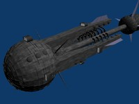 free spaceship cruiser 3d model