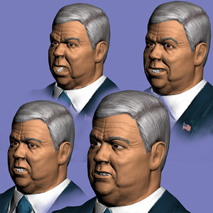 3d haley barbour model