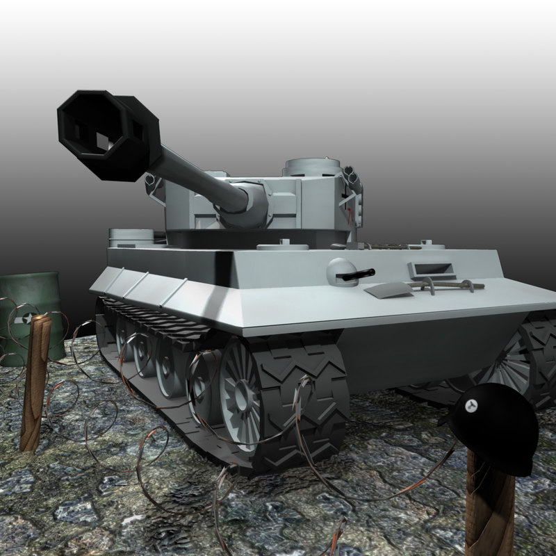 3d model of world war tiger tank