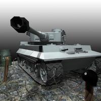 Tiger Tank Scene