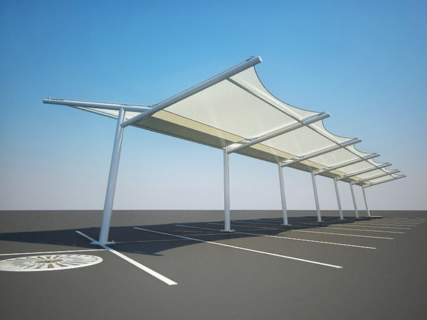 maya fabric structure parking shading