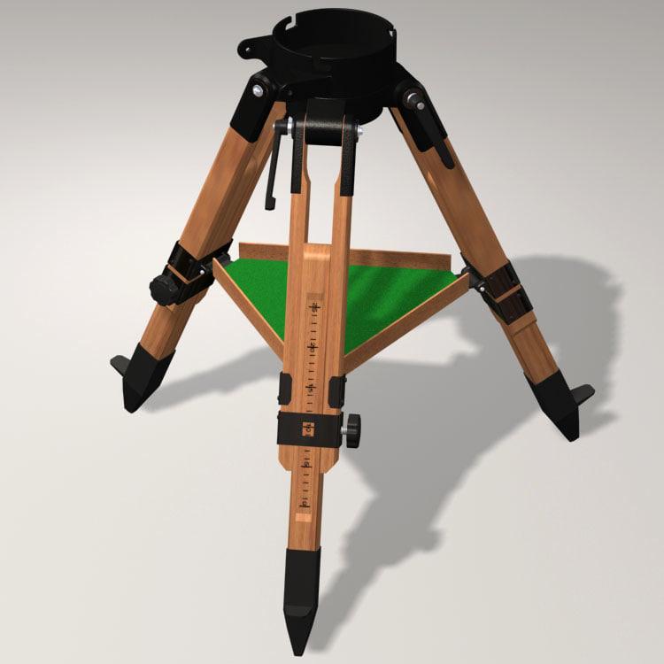 3d wooden berlebach tripod model