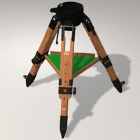 3d wooden berlebach tripod model