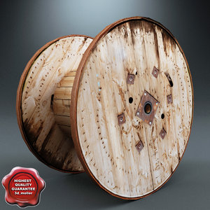 3dsmax wooden cable reel