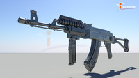 ak74 gun rifle 3d model