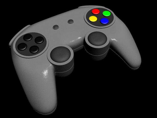 3d generic games controller model