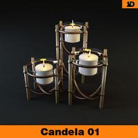 candela candel 3d model