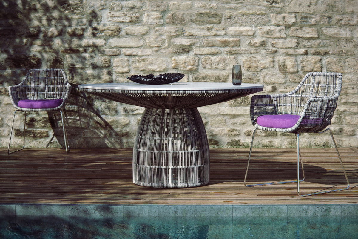 3d b italia crinoline chair table model