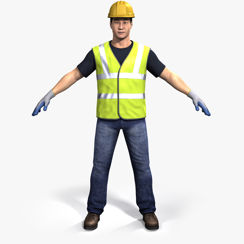 Rigged Dong Realistic Asian Man 3d Model