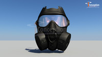 gas mask obj