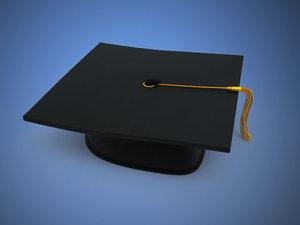 3d cap graduation model