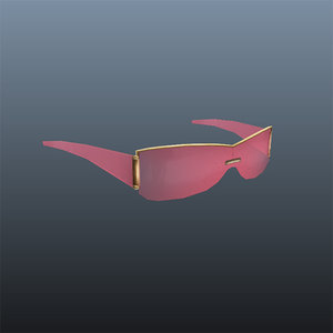 3d pink gucci glasses model