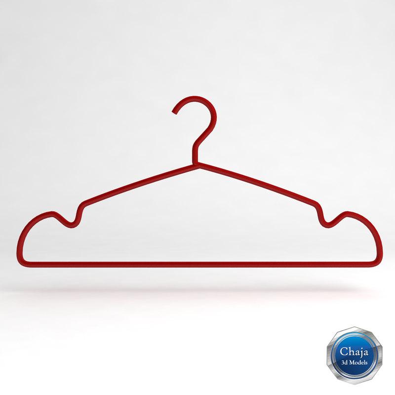 3d clothes hanger clotheshanger